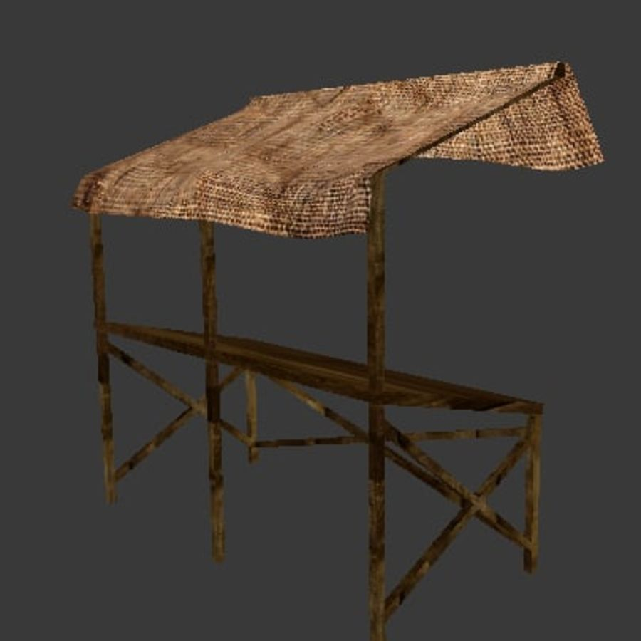 Market Stall 2 royalty-free 3d model - Preview no. 3