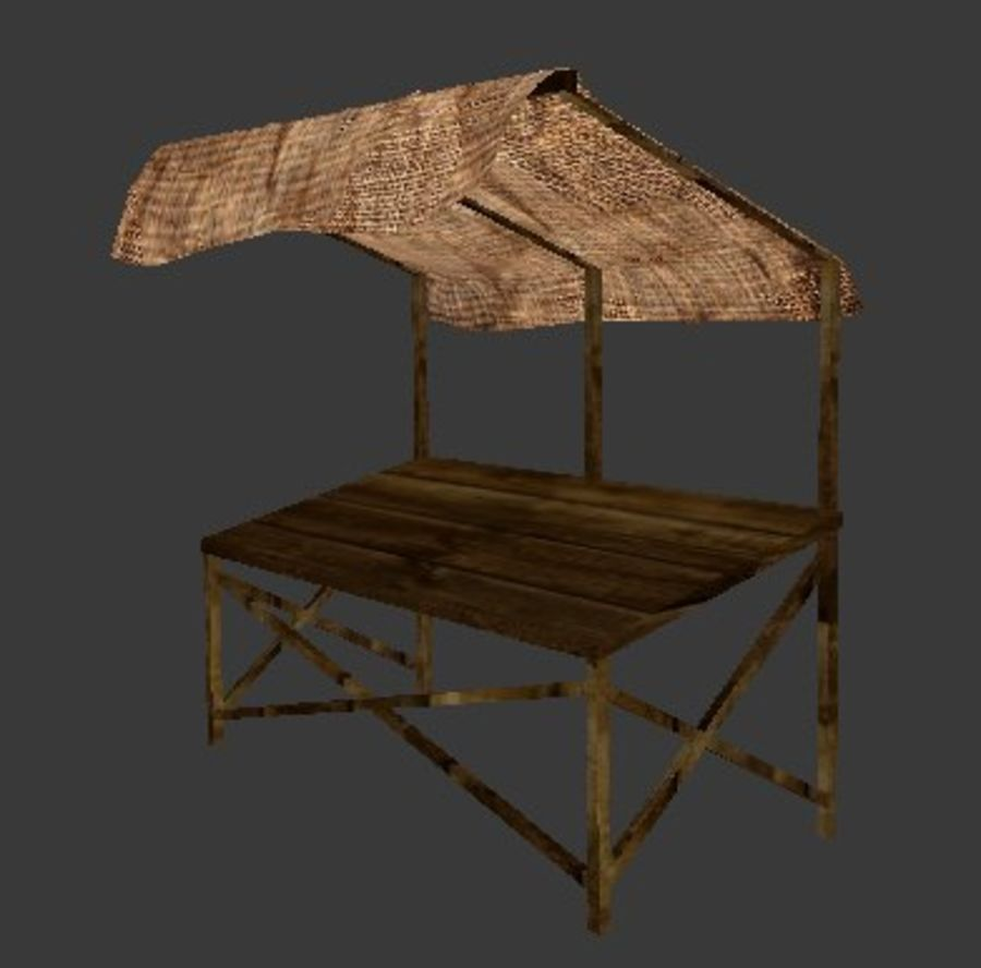 Market Stall 2 royalty-free 3d model - Preview no. 1
