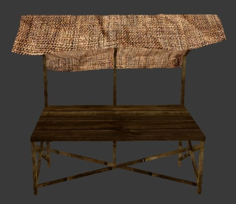 Market Stall 2 royalty-free 3d model - Preview no. 2