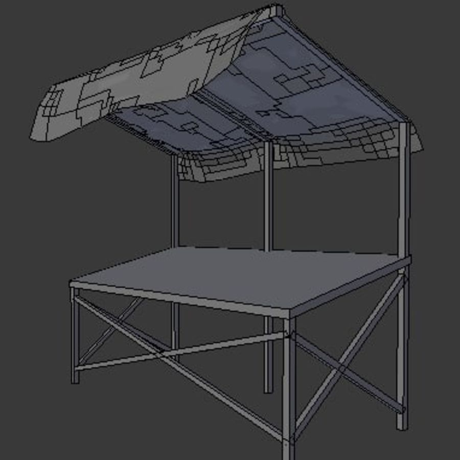 Market Stall 2 royalty-free 3d model - Preview no. 5