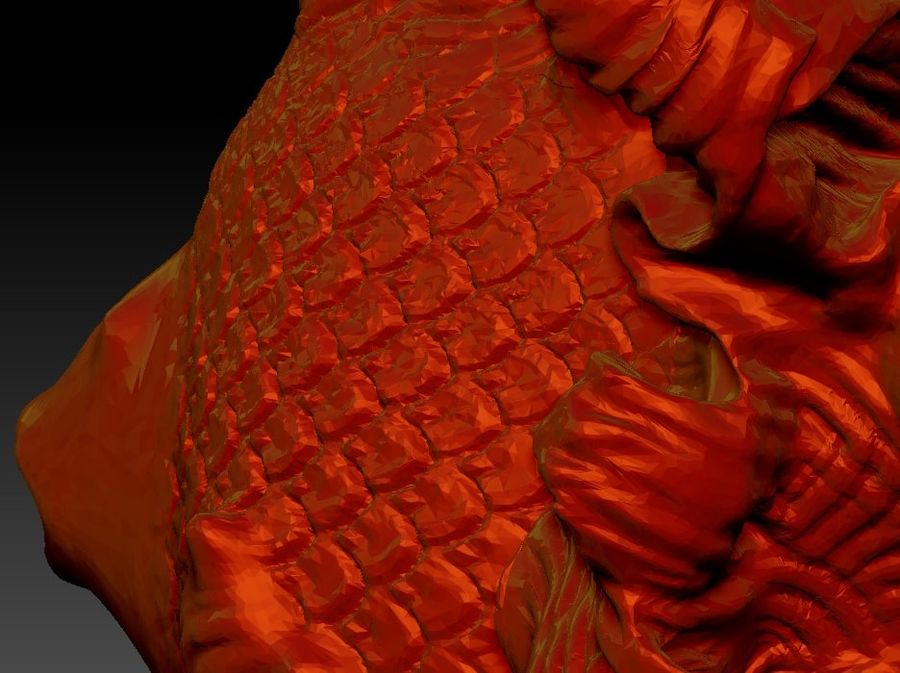peixe dourado royalty-free 3d model - Preview no. 5