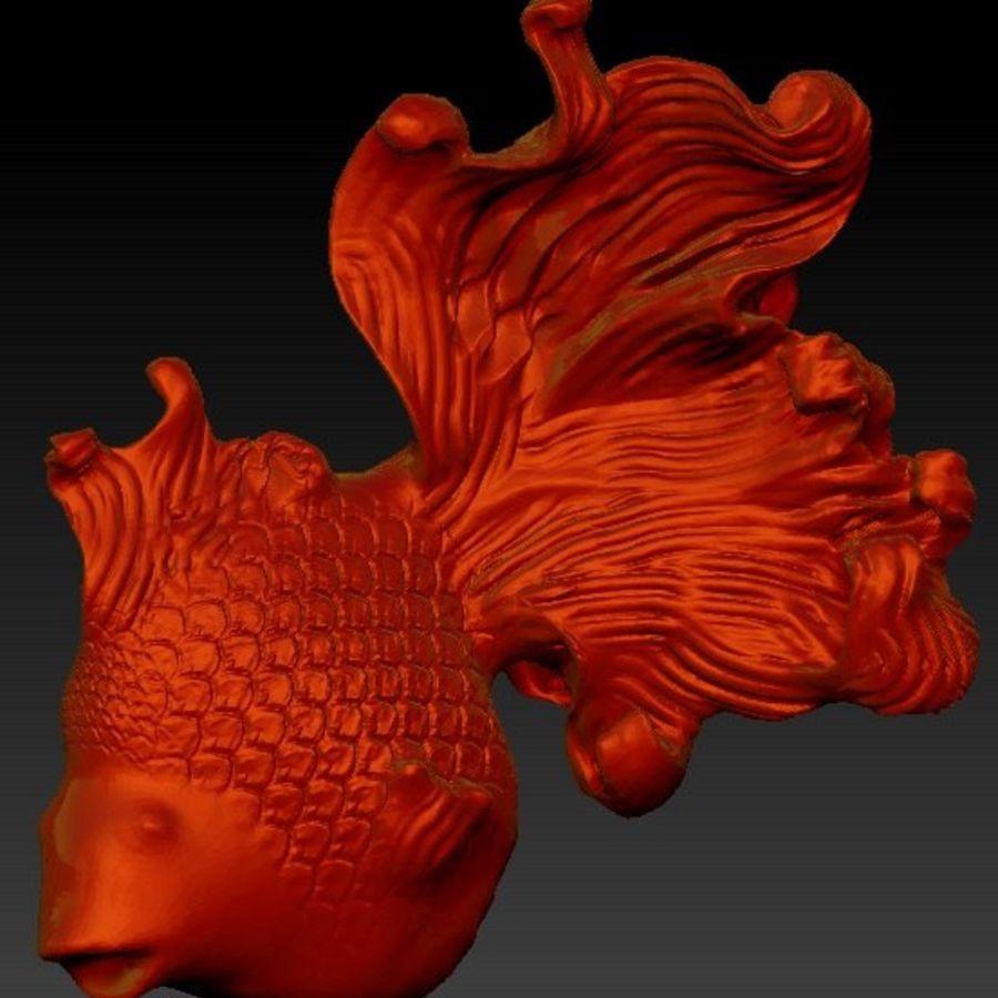 peixe dourado royalty-free 3d model - Preview no. 2