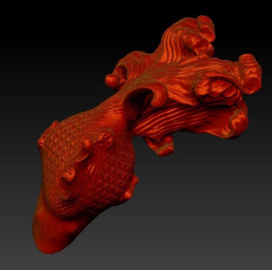 peixe dourado royalty-free 3d model - Preview no. 3