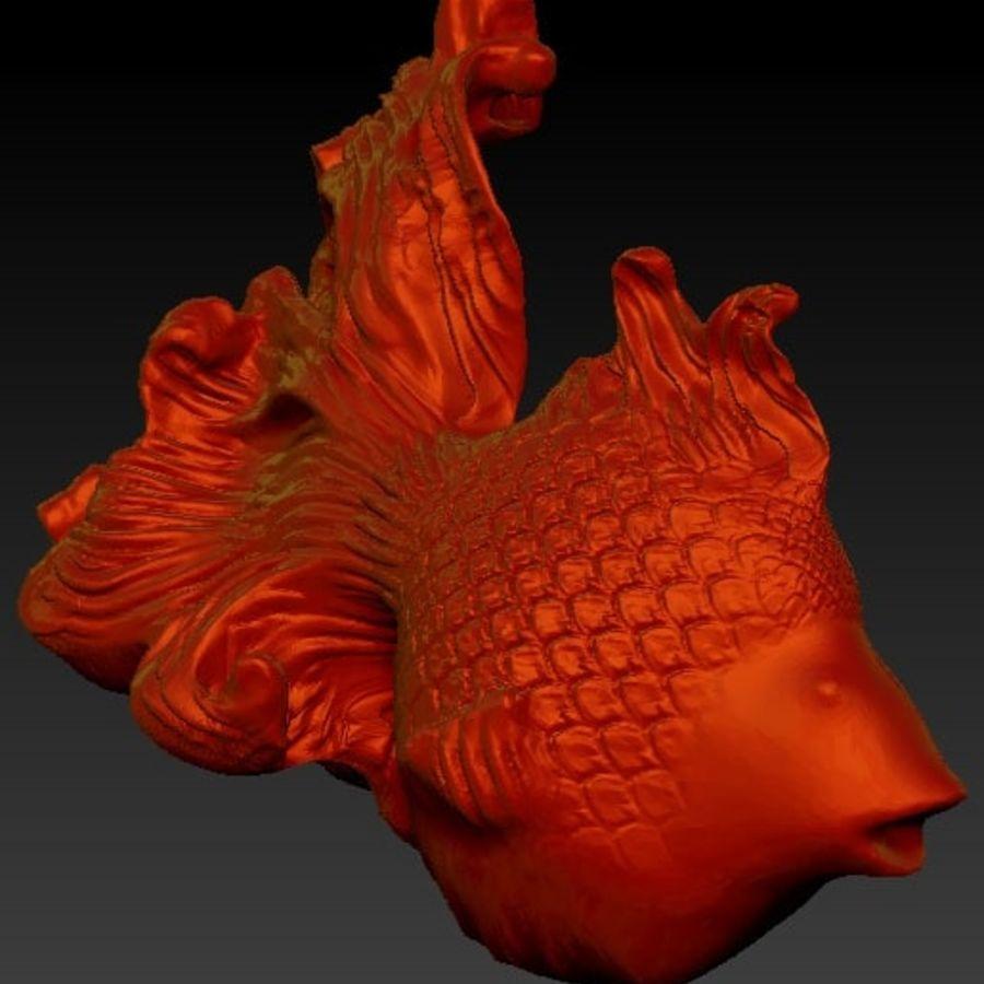 peixe dourado royalty-free 3d model - Preview no. 1