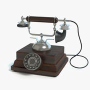Old Fashioned Phone 3d model