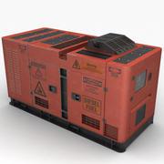 Jeneratör (Kırmızı) 3d model