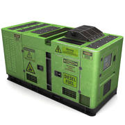 Strömgenerator (grön) 3d model