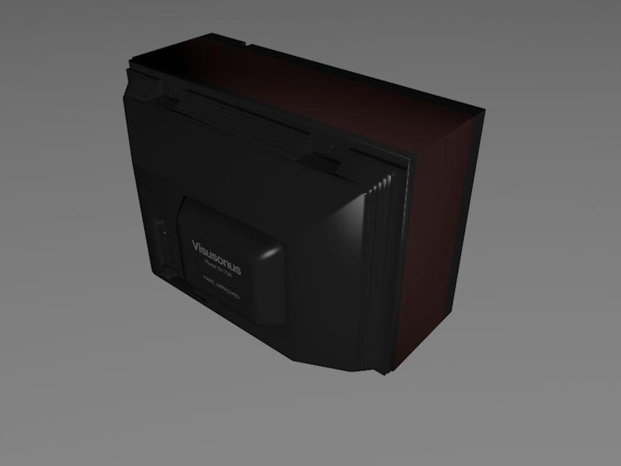 Gammal TV-apparat royalty-free 3d model - Preview no. 7