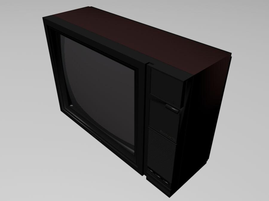 Gammal TV-apparat royalty-free 3d model - Preview no. 4