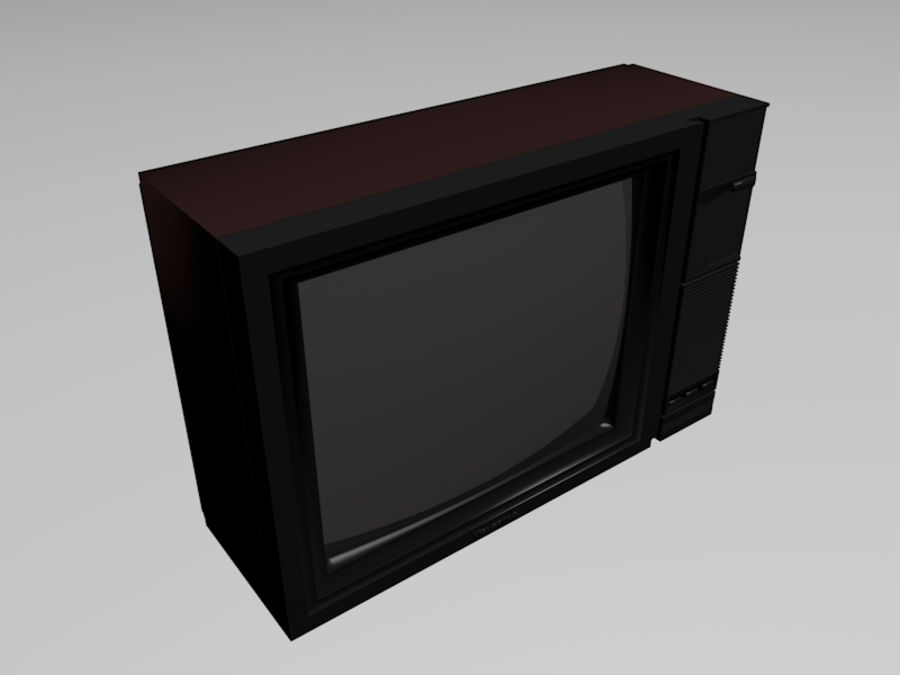 Gammal TV-apparat royalty-free 3d model - Preview no. 3