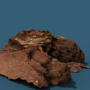 Photo-scanned rock 3d model