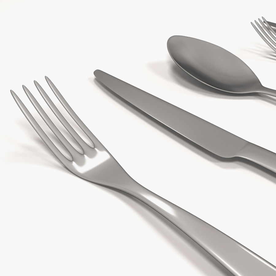 Cutlery royalty-free 3d model - Preview no. 3