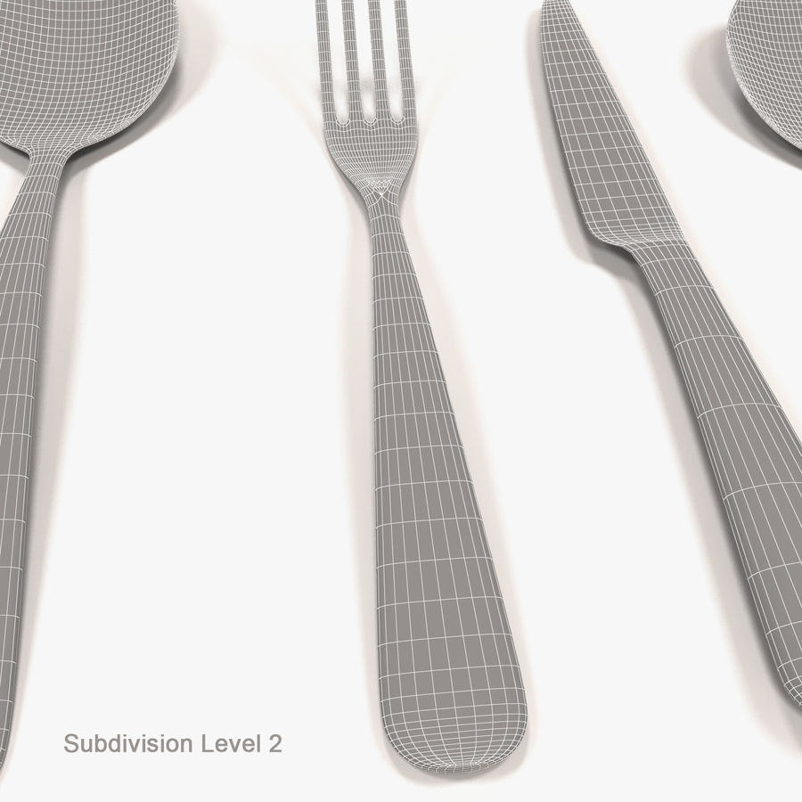 Cutlery royalty-free 3d model - Preview no. 7