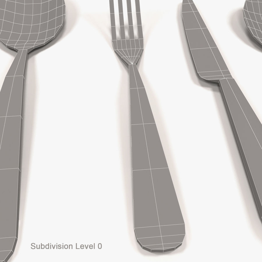 Cutlery royalty-free 3d model - Preview no. 6