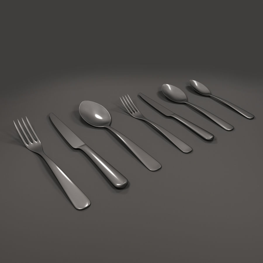 Cutlery royalty-free 3d model - Preview no. 2