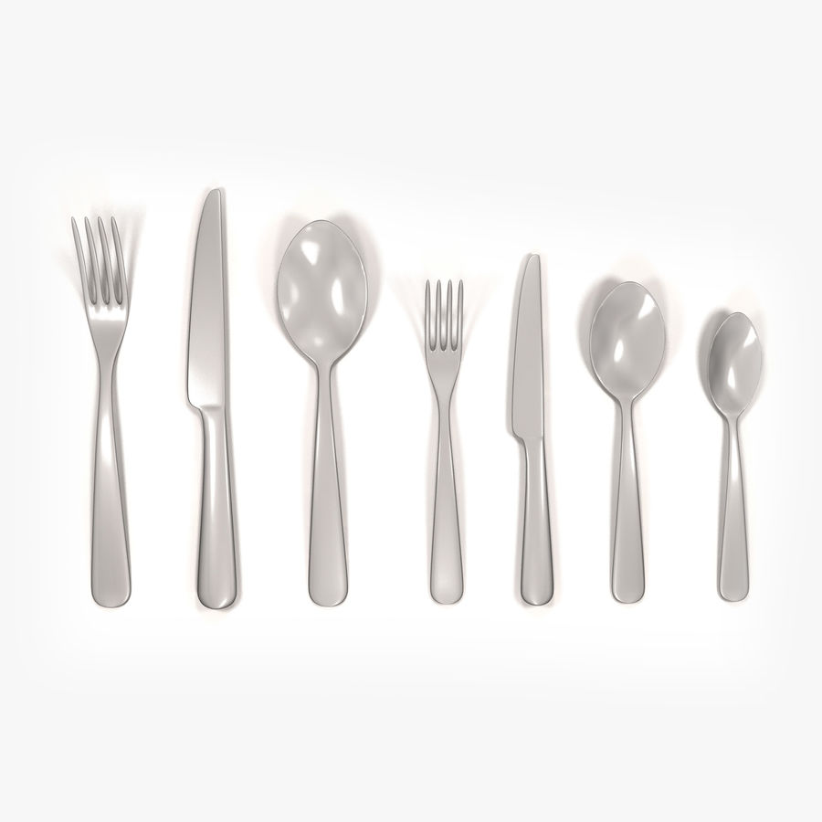 Cutlery royalty-free 3d model - Preview no. 12