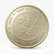 Pièce PayPal 3d model