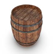 Barril de madeira 3d model