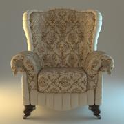扶手椅米色经典 3d model