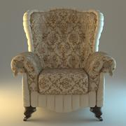 Armchair beige classic 3d model