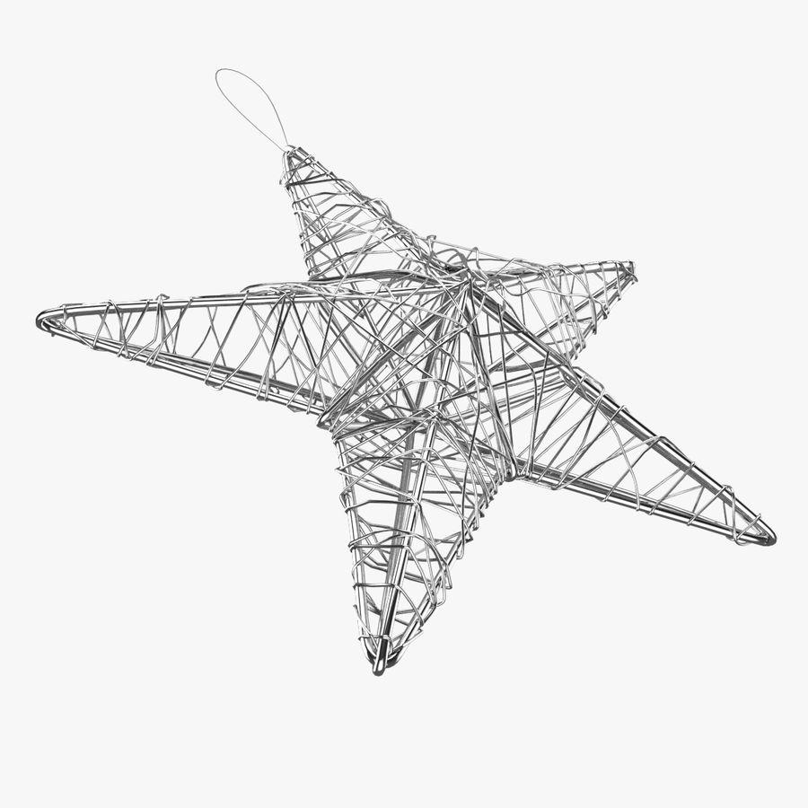 Decorazione a stella di Natale royalty-free 3d model - Preview no. 4