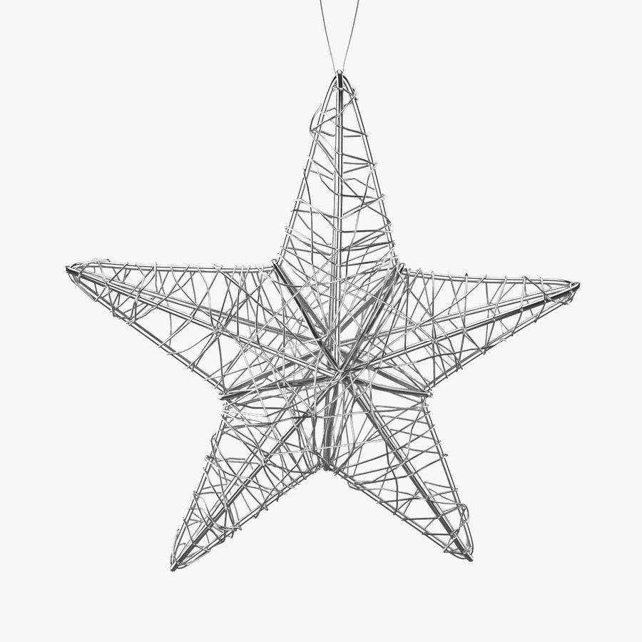 Decorazione a stella di Natale royalty-free 3d model - Preview no. 1