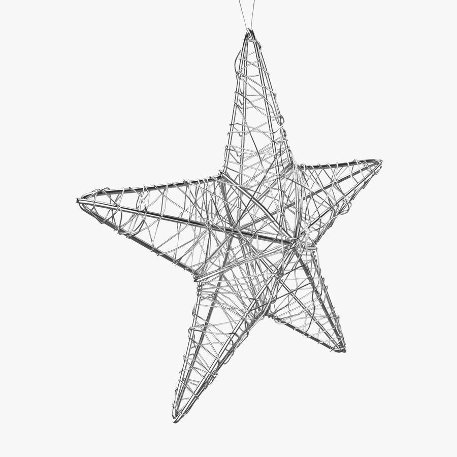 Decorazione a stella di Natale royalty-free 3d model - Preview no. 2