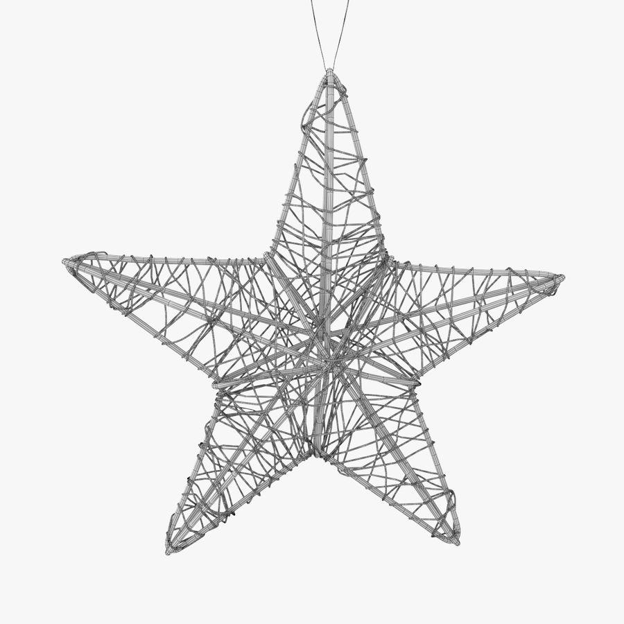 Decorazione a stella di Natale royalty-free 3d model - Preview no. 6