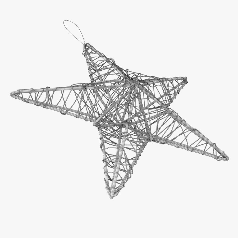 Decorazione a stella di Natale royalty-free 3d model - Preview no. 5
