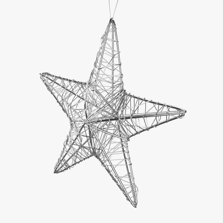 Decorazione a stella di Natale royalty-free 3d model - Preview no. 3