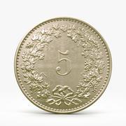 5 Rappen Coin 3d model