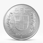 Five Franks Coin 3d model