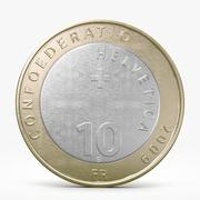 Ten Franks Coin 3d model