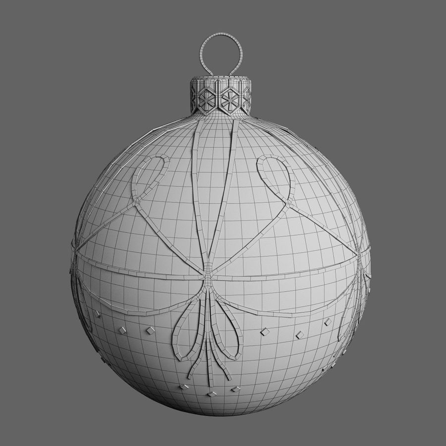 Christmas Ball A royalty-free 3d model - Preview no. 4