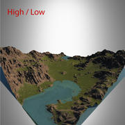 Valley Landscape 3d model
