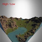 Valley landschap 3d model