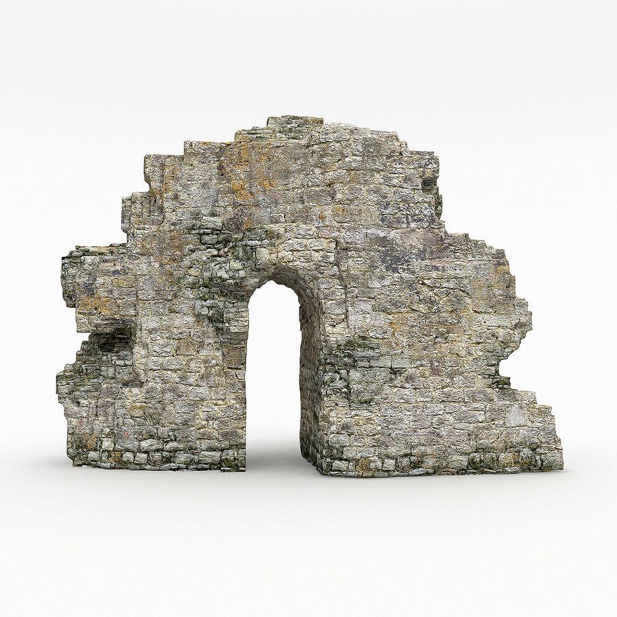 废墟城堡 royalty-free 3d model - Preview no. 2