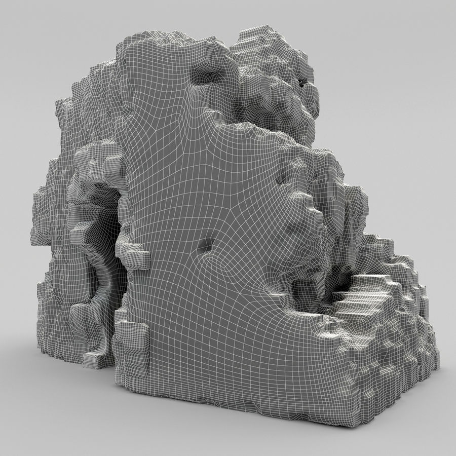 废墟城堡 royalty-free 3d model - Preview no. 6