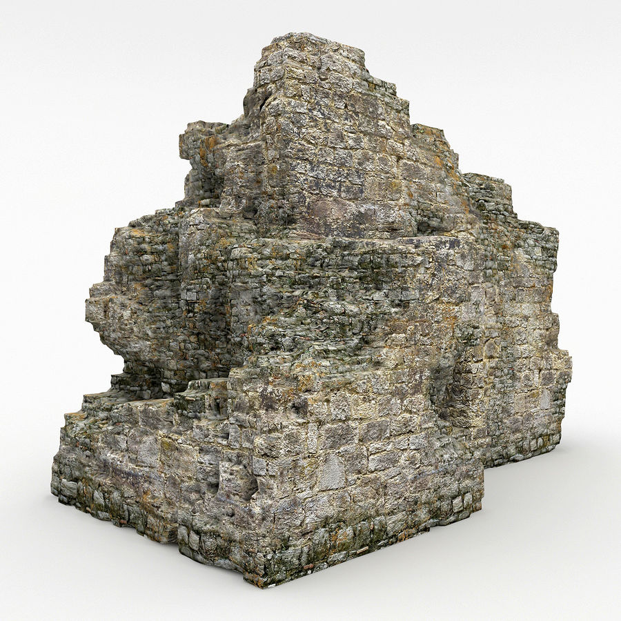 废墟城堡 royalty-free 3d model - Preview no. 5