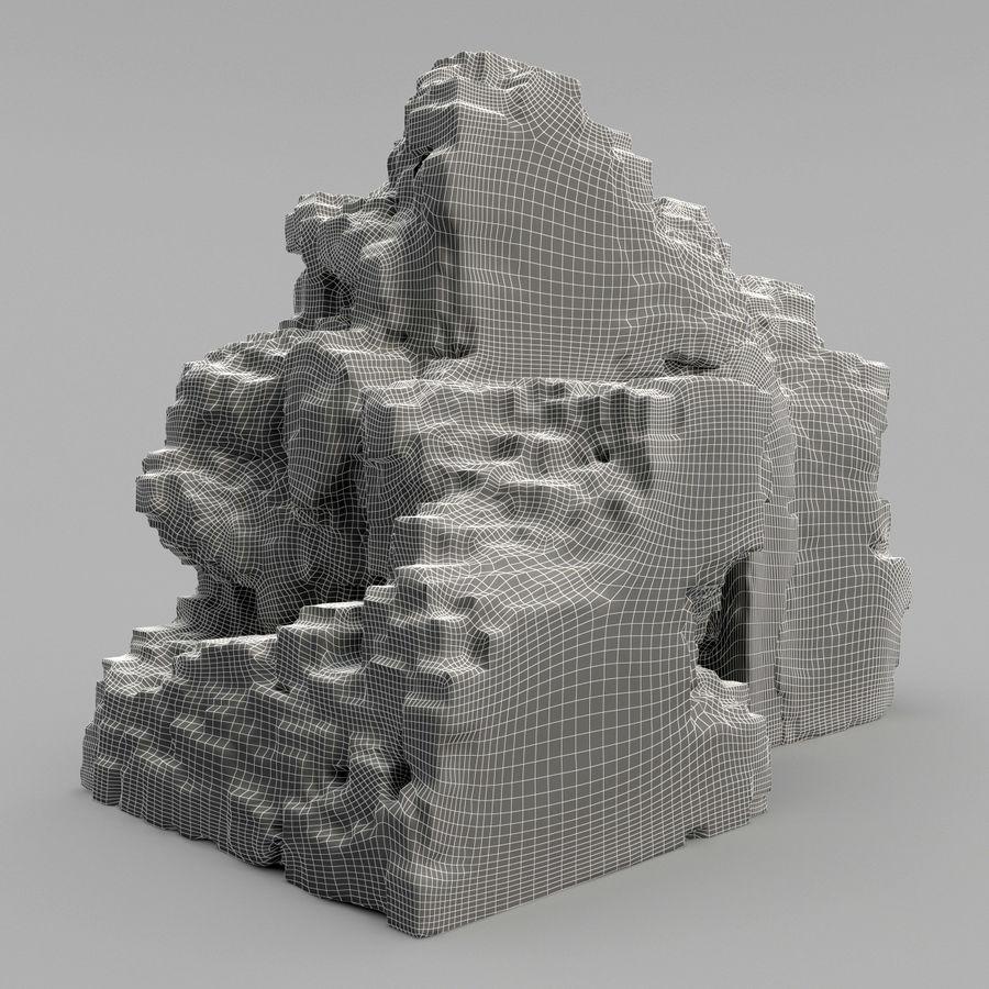 废墟城堡 royalty-free 3d model - Preview no. 10