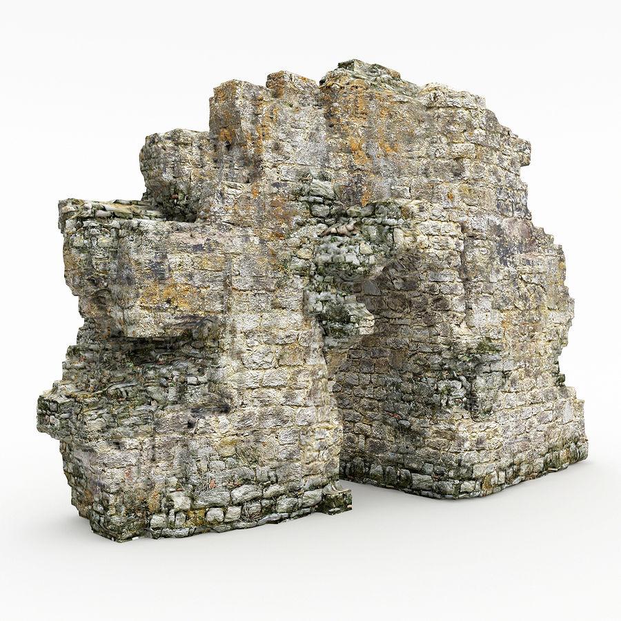 废墟城堡 royalty-free 3d model - Preview no. 3
