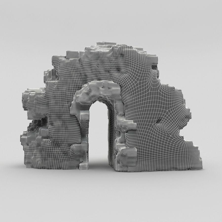 废墟城堡 royalty-free 3d model - Preview no. 7