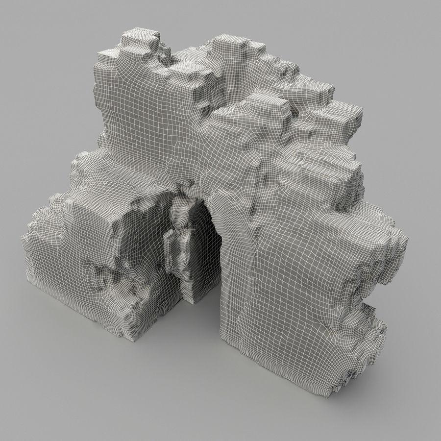 废墟城堡 royalty-free 3d model - Preview no. 9