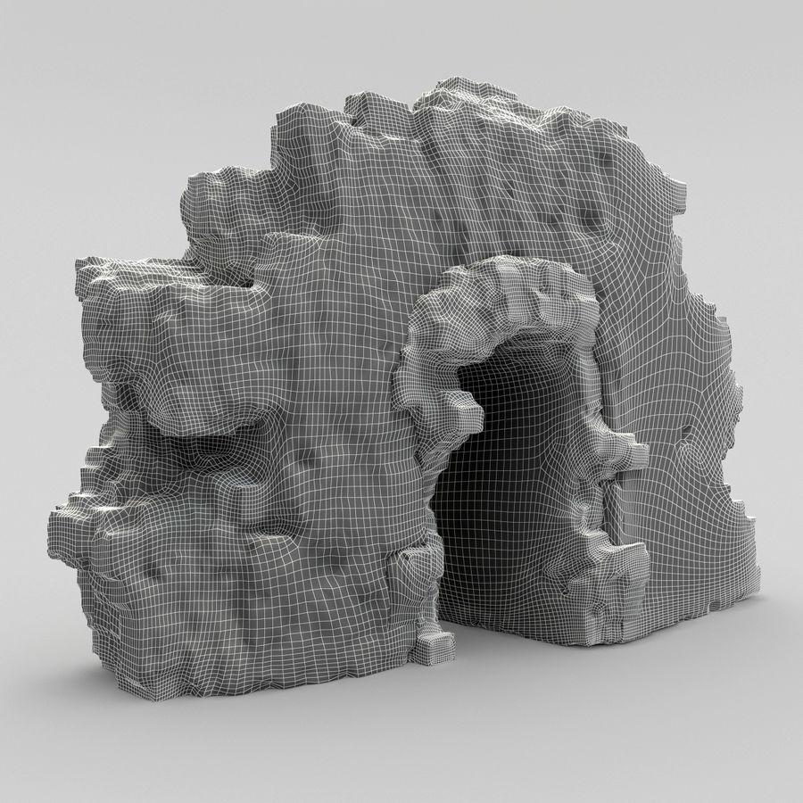 废墟城堡 royalty-free 3d model - Preview no. 8