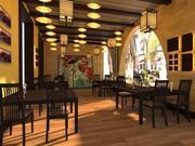 restoran terası 3d model
