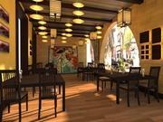餐厅露台 3d model