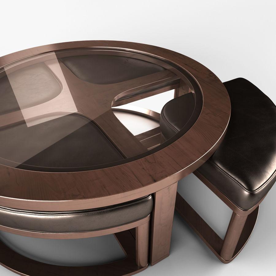 Marion - Cocktail TBL met 4 krukken royalty-free 3d model - Preview no. 3