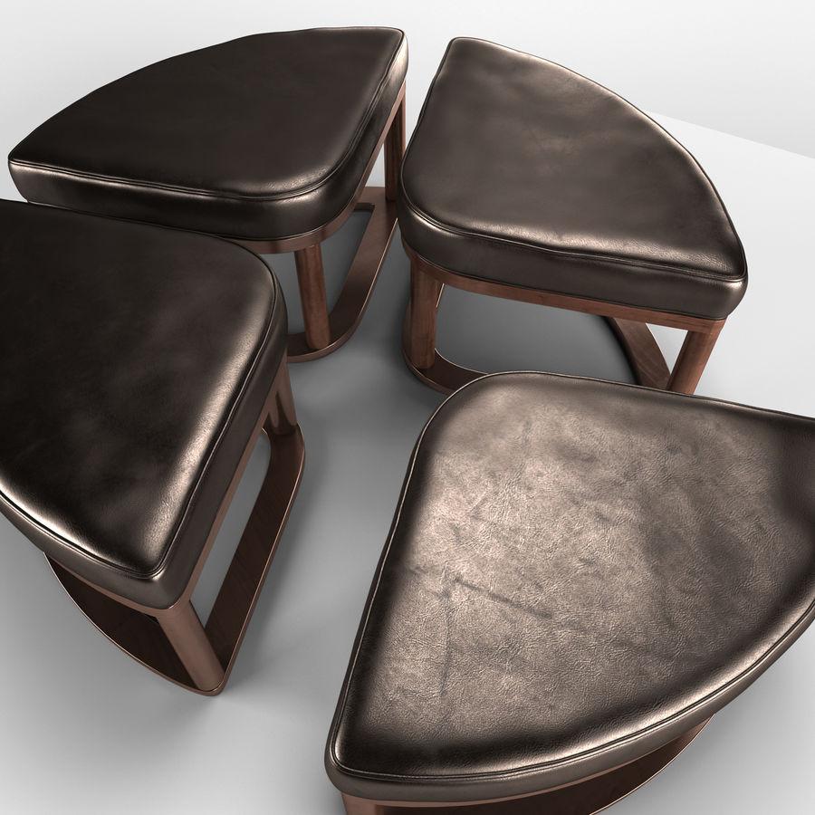 Marion - Cocktail TBL met 4 krukken royalty-free 3d model - Preview no. 2