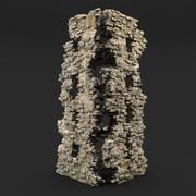 Torre de las ruinas modelo 3d