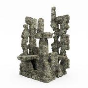 废墟城堡 3d model